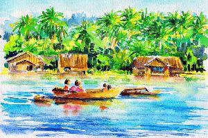 Painting , Seychelles