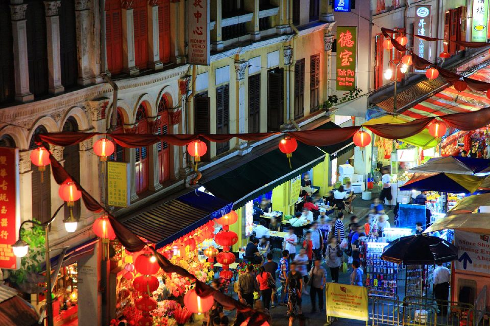 Chinatown , Lampions traditionnels , Singapour