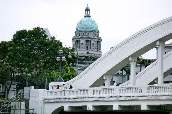 The colonial neighbourhood , Singapore's skyline , Singapore