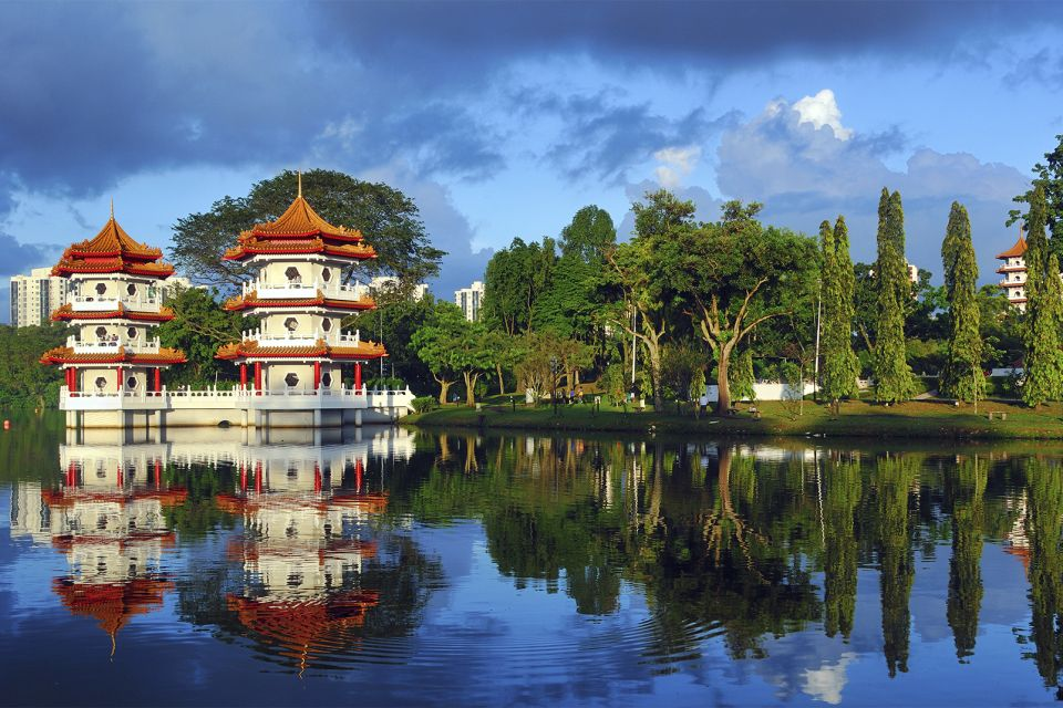 Les monuments et les balades, Ville de Singapour Singapour Jardin classique Pagode Temple