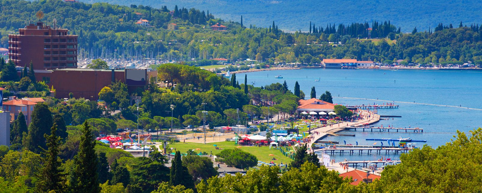 Portoroz , Vue panoramique sur Portoro?, Slovénie , Slovénie