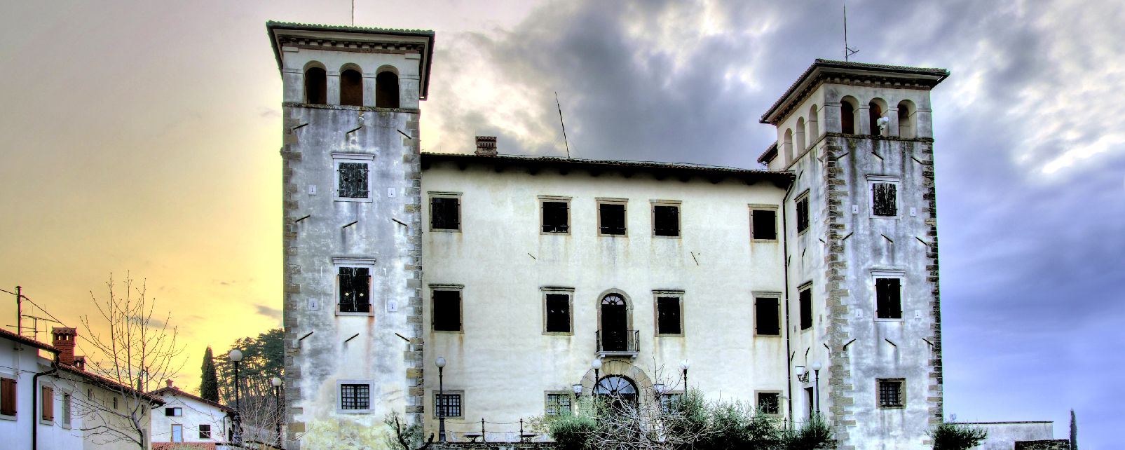 The Dobrovo manor , The detail in one decoration, Slovenia , Slovenia