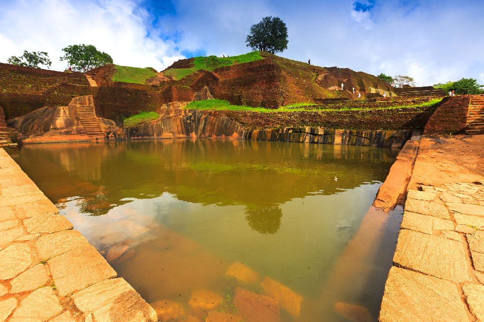 Le roc de Sigiriya , Le Rocher de Sigirya , Sri Lanka