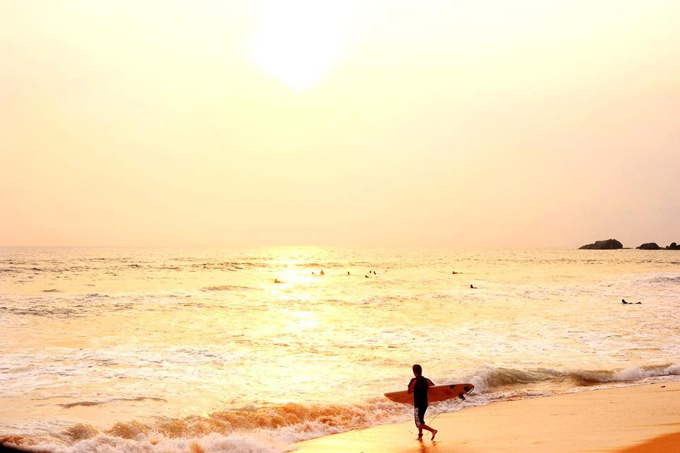 La costa occidentale , Sri Lanka