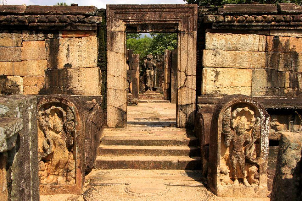 Le site de Polonnaruwa , Ancienne capitale , Sri Lanka