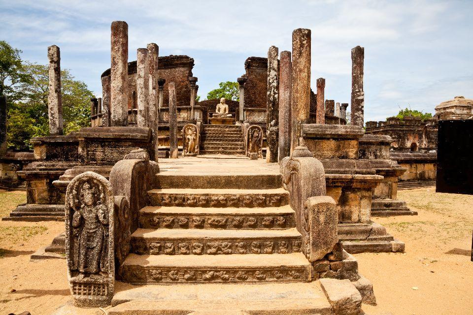 Le site de Polonnaruwa , Vatagage , Sri Lanka