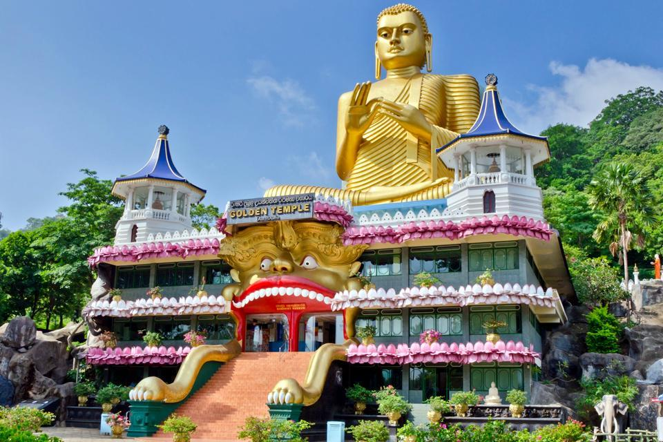 Dambulla , Der goldene Tempel von Dambulla , Sri Lanka
