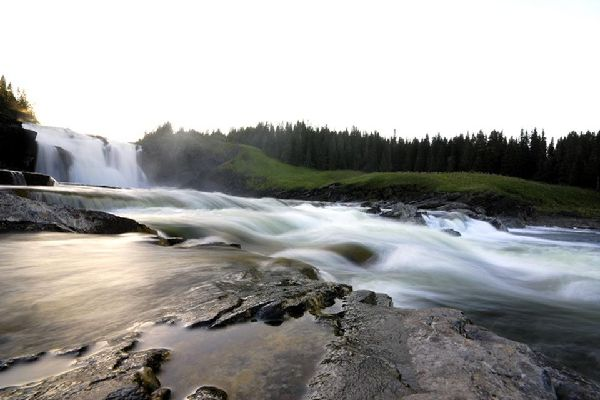 The lakes and waterfalls , Waterfalls, Sweden , Sweden
