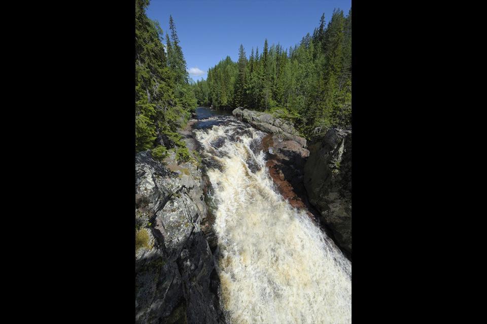 The lakes and waterfalls , Njupeskar Waterfall, Sweden , Sweden