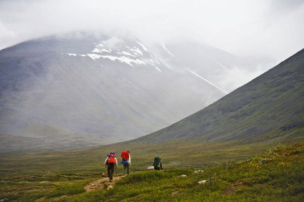 The Royal Track , Trekking in Lapland , Sweden