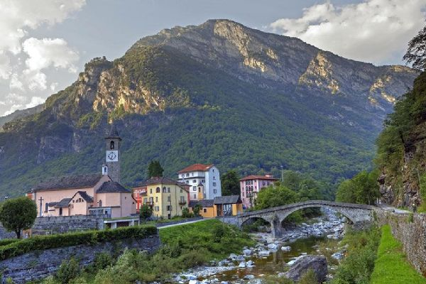 Tessin , The green valleys of the canton of Tessin , Switzerland