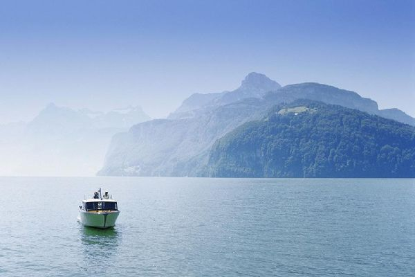 The Quatre-Cantons lake area , Lake Lucerne , Switzerland