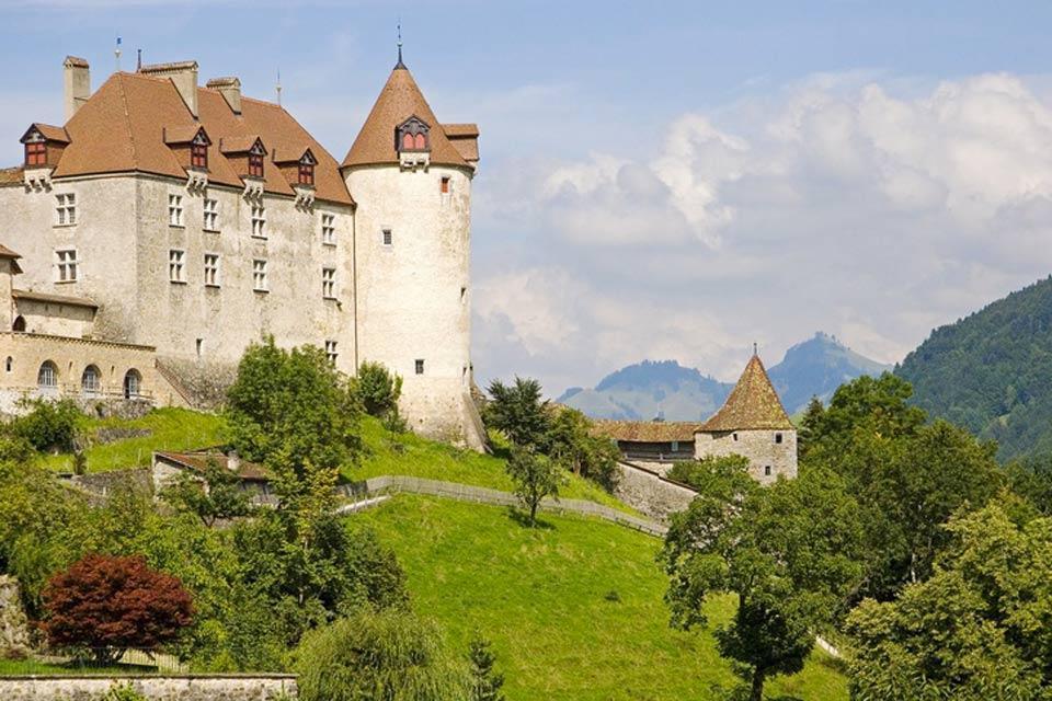 Le canton de Fribourg , Le Château de Gruyères , Suisse