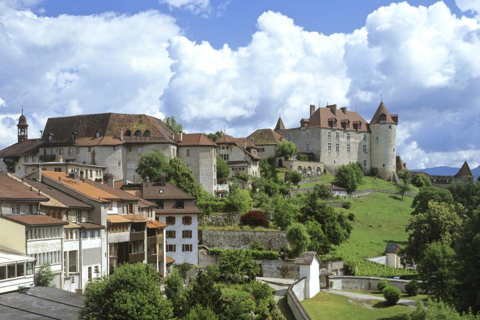 Le canton de Fribourg , Le village de Gruyères , Suisse