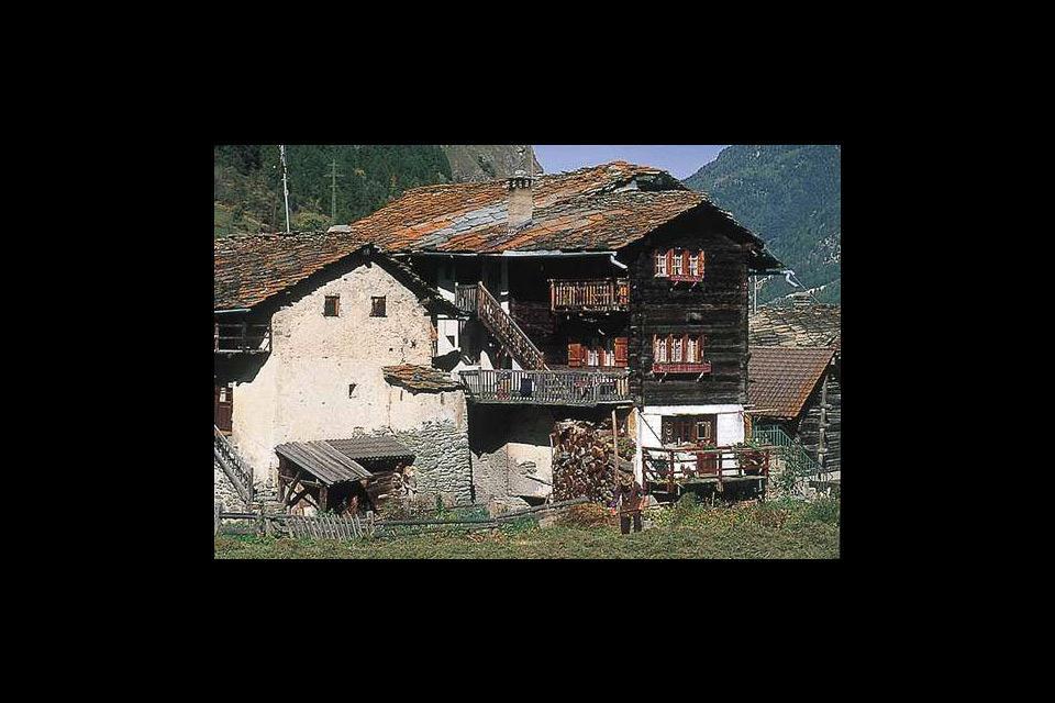 Die Waadtländer Alpen , Traditionelle Chalets , Schweiz