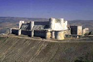 The castle of the Crusaders , Homs, Castle of the Kurds , Syria