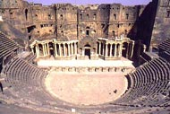 Cities of the Euphrates valley , The Bosra Amphitheatre, Syria , Syria