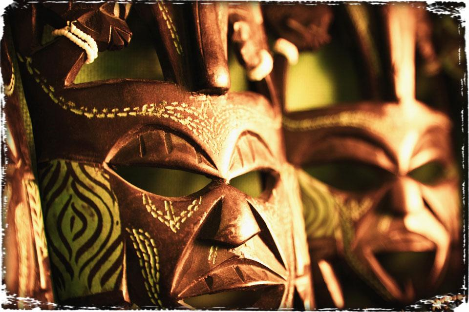 L'artisanat et la musique , Masques africains , Tanzanie
