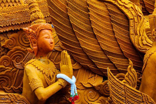 El budismo, La meseta de Isaan, Los paisajes, Tailandia
