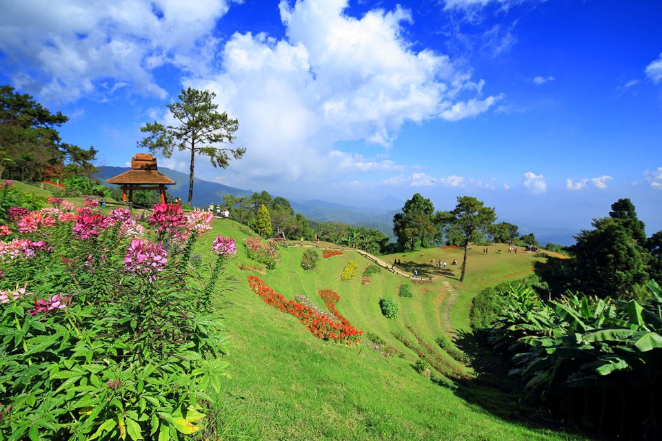 El parque nacional de Huai Nam Dang, Las montañas, Los paisajes, Tailandia