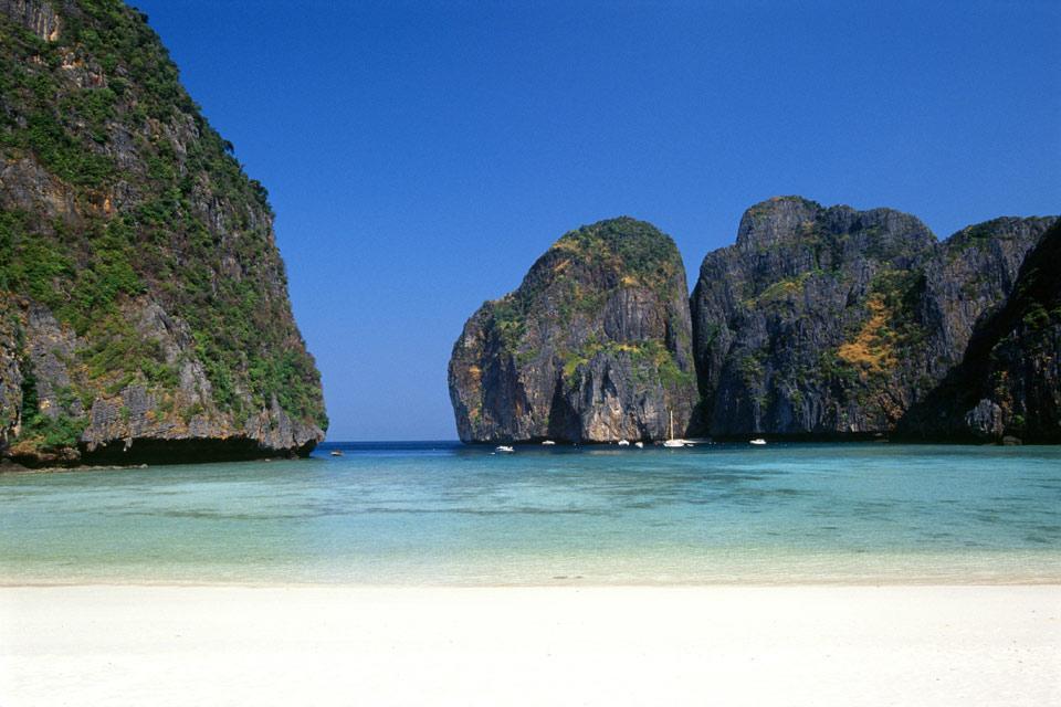 Las islas del mar de Andamán , Koh Phi Phi Ley , Tailandia