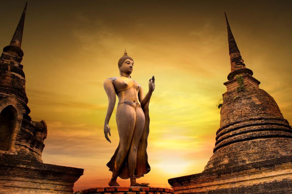 Sukhothai , Les ruines de Sukhothai , Thaïlande