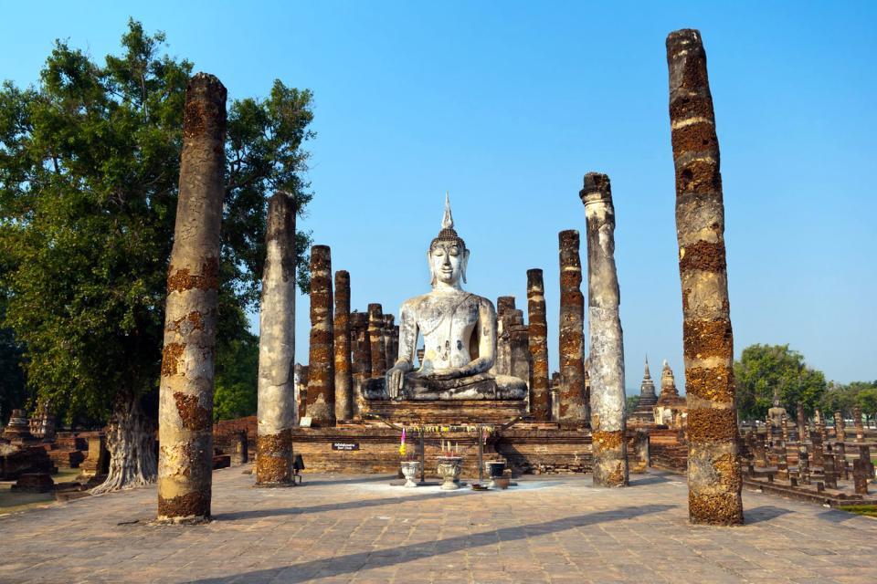 Sukhothai , Wat Chang Lom , Thaïlande