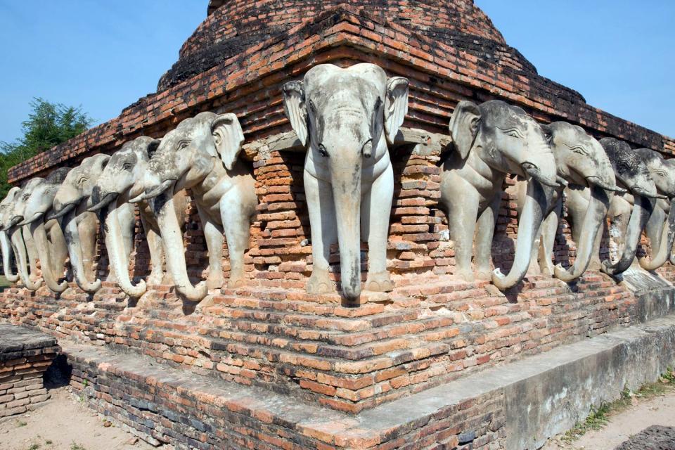 Sukhothai , Les éléphants de Sukhothai , Thaïlande