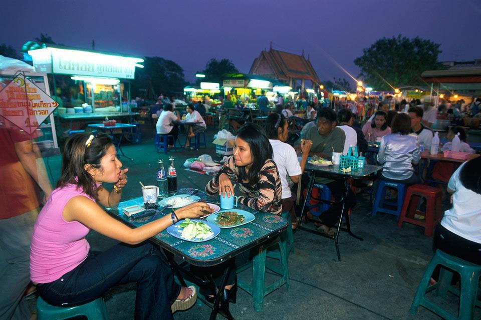 Ayutthaya , Le marché d'Ayutthaya , Thaïlande