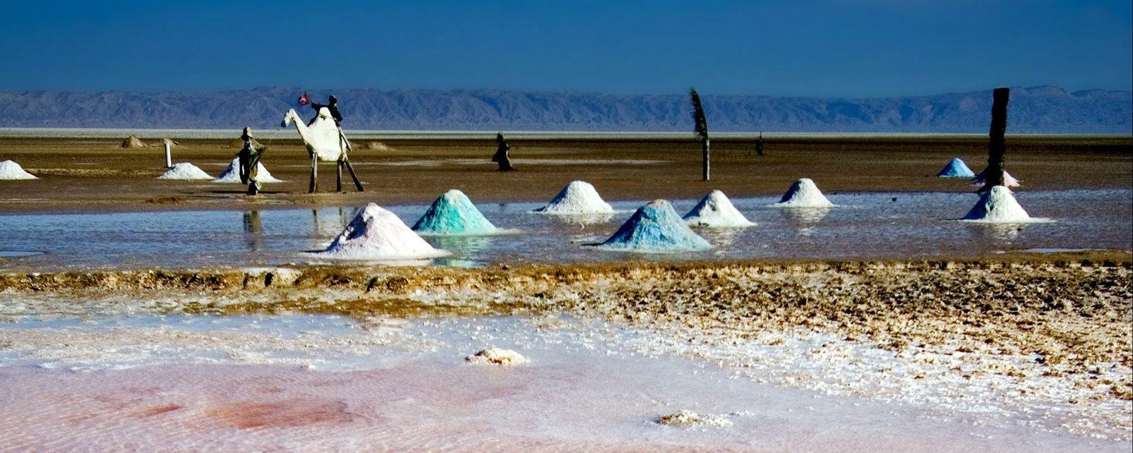 Les chotts, Les paysages, Tozeur, Tunisie