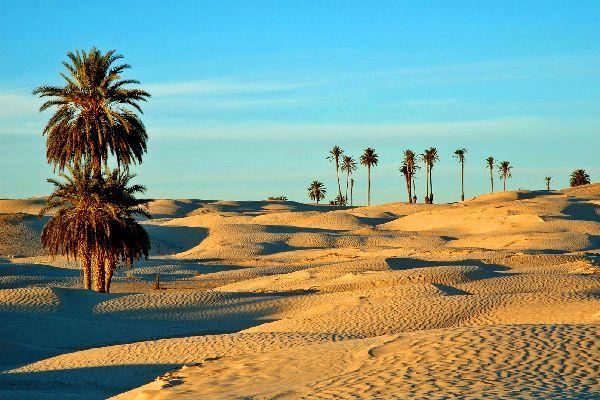 Die Wüste , Felsen in der Sahara , Tunesien