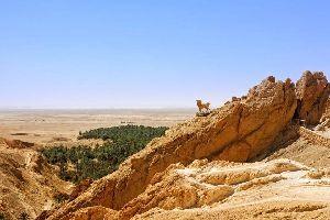 Le village de Chebika , Tunisie
