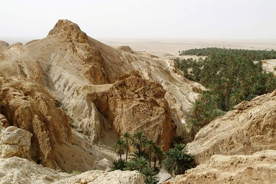 Le village de Chebika , La faille de Chebika , Tunisie