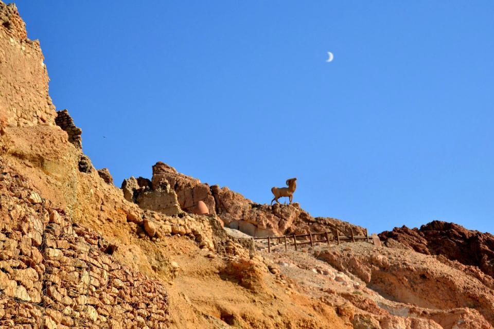 Le village de Chebika , Un ancien poste romain , Tunisie
