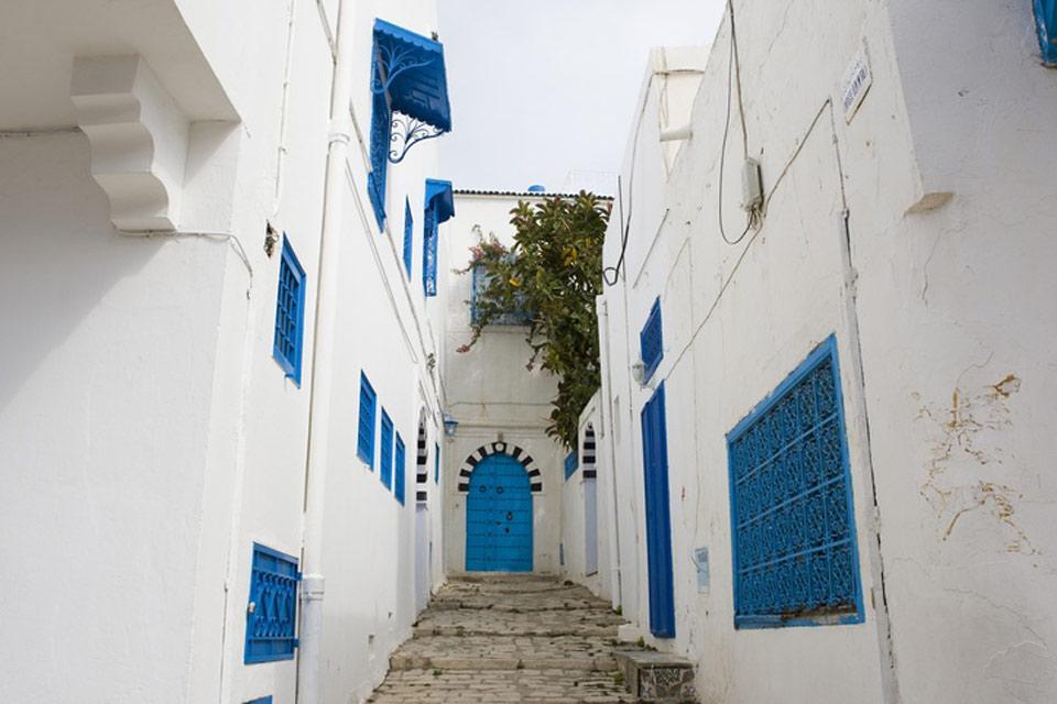 Sidi Bou Said , Pueblo de Sidi Bou Said , Túnez