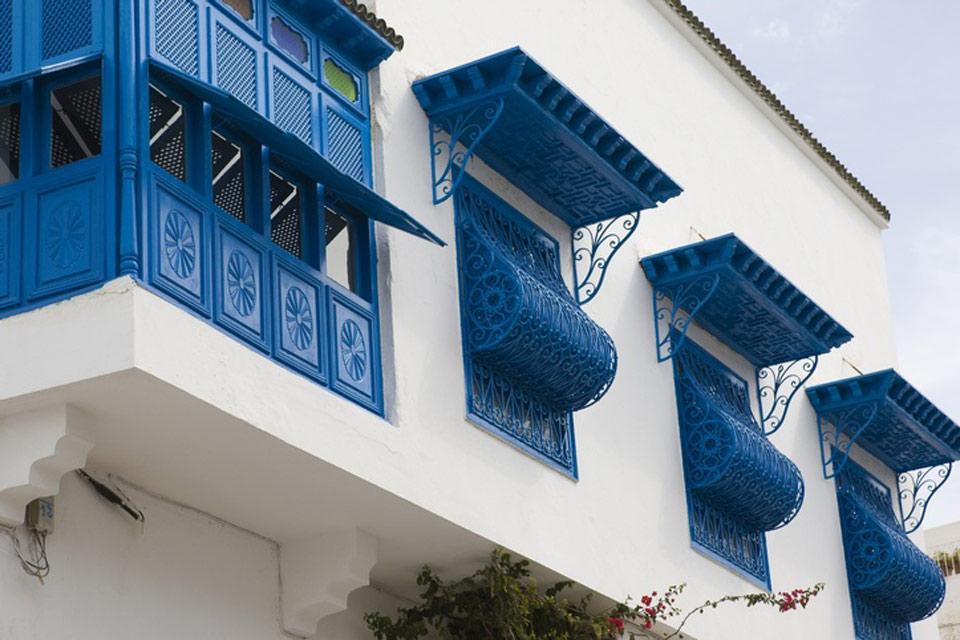 Sidi Bou Saïd , A typical house in Sidi Bou Said , Tunisia