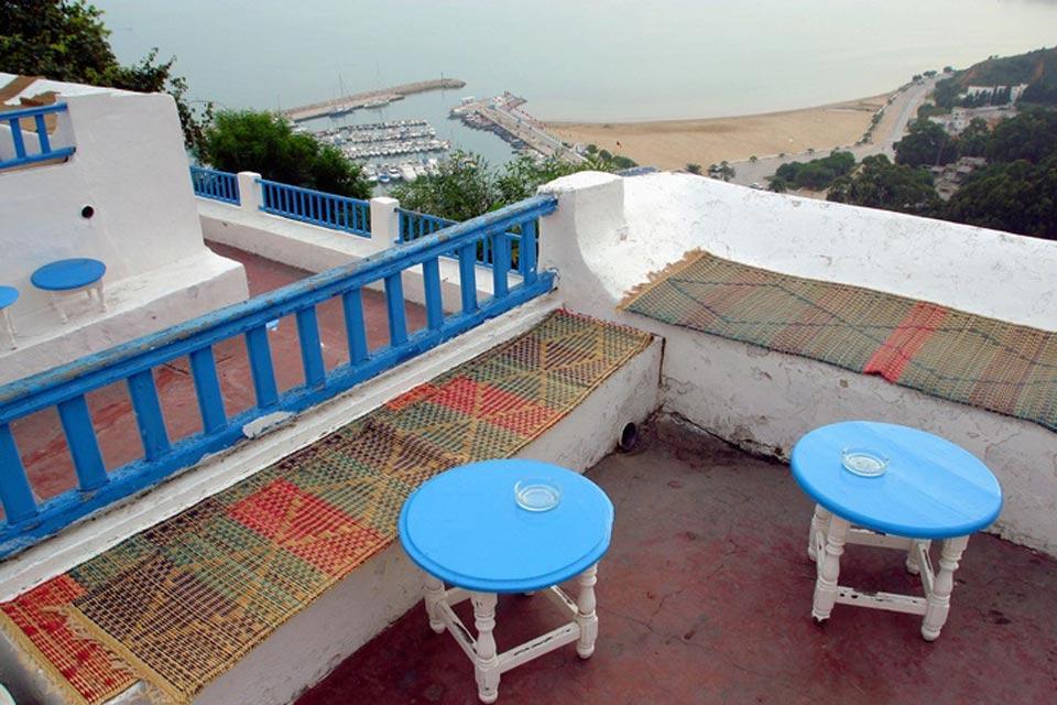 Sidi Bou Said , Cafés de Sidi Bou Said , Túnez