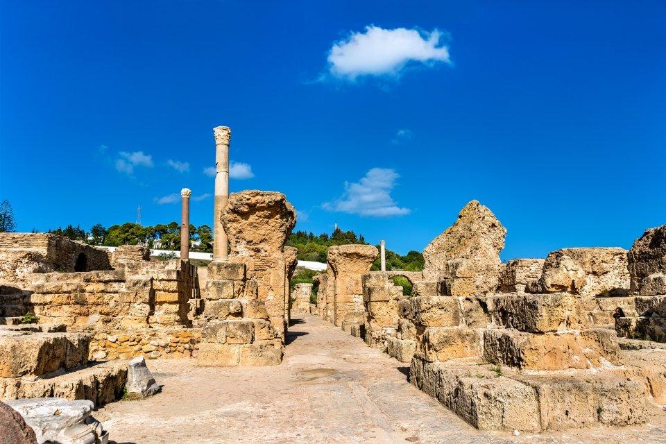 Les sites archéologiques, Ruines, Thermes, Antonin, Carthage, Tunisie, afrique, maghreb