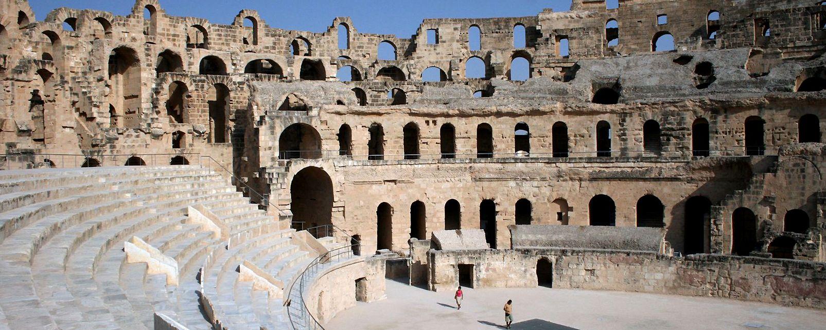 Le colisée d'El Jem, Amphithéâtre d'El-Jem, Les monuments, Sousse, Tunisie