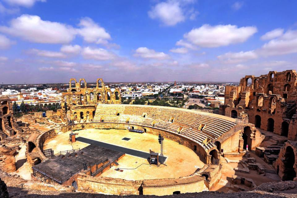The town of El Djem, El-Jem, Monuments, Sousse, Tunisia