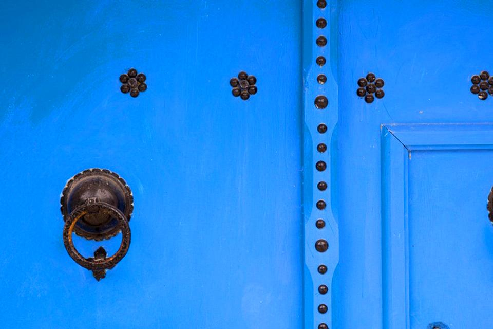 Studded wood doors , Studded Tunisian doors , Tunisia