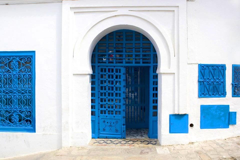 Studded wood doors , A studded wooden gate , Tunisia