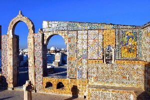 Les toits en terrasse , Vue d'une terrasse tunisienne , Tunisie