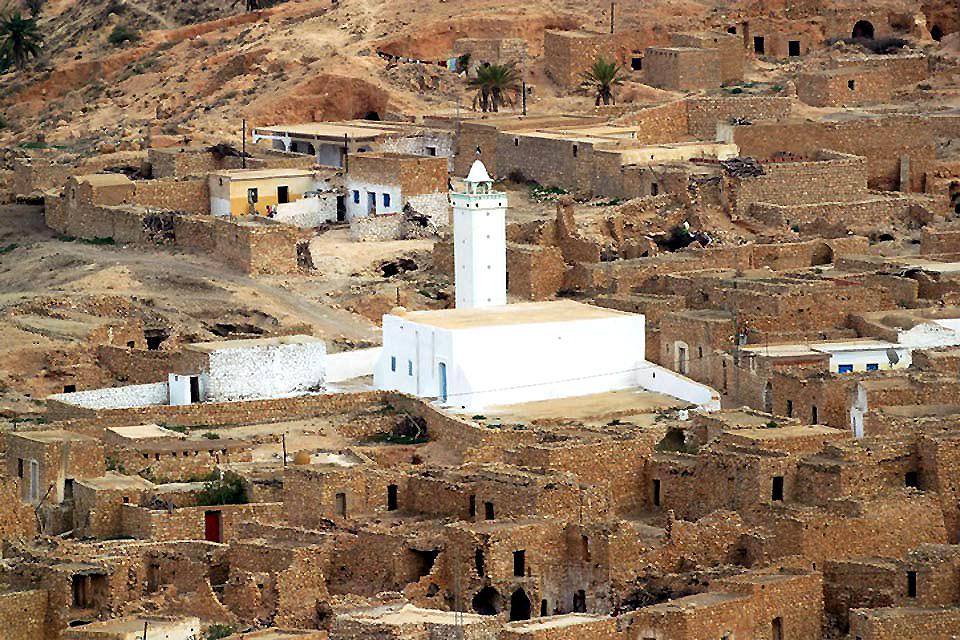 Le village de Medenine , Tunisie