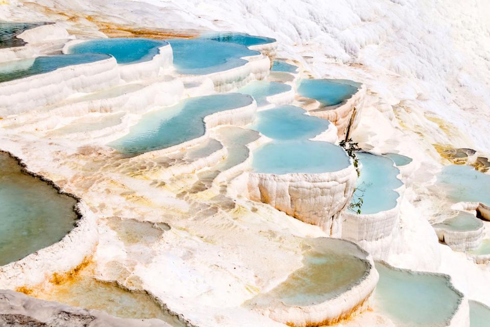 Pamukkale , Des piscines naturelles , Turquie