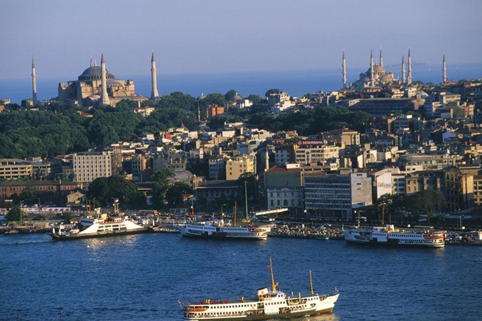 El mar de Mármara , Estambul , Turquía