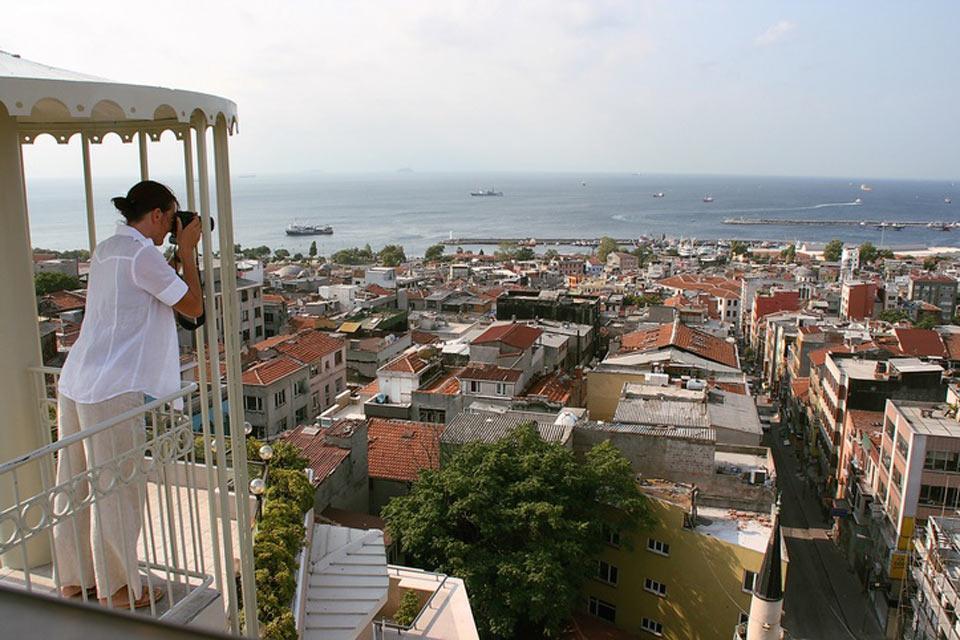 El mar de Mármara , Vistas desde Estambul , Turquía