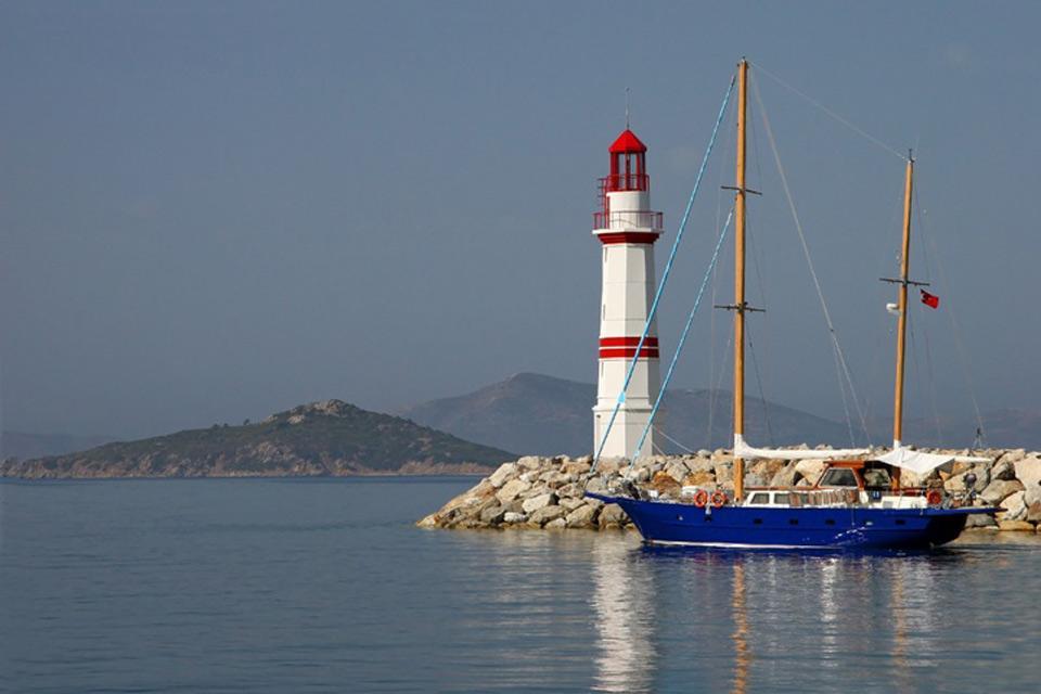 La côte égéenne , La mer Egée , Turquie