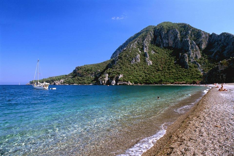 La côte méditerranéenne , La plage de Cirali , Turquie