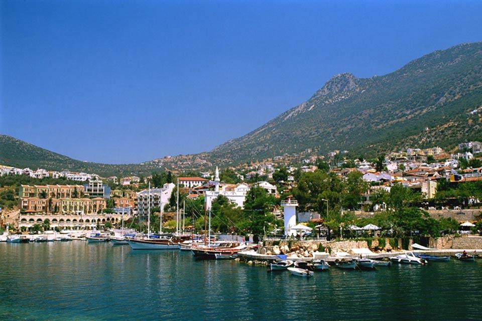 La côte méditerranéenne , La ville de Kalkan , Turquie